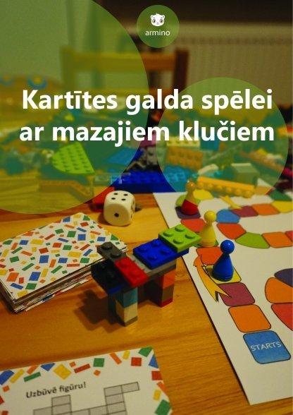 Printējamas kartītes galda spēlei ar mazajiem klučiem