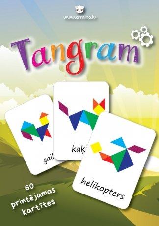 """Printējamas loģiskās kartītes """"Tangram"""""""