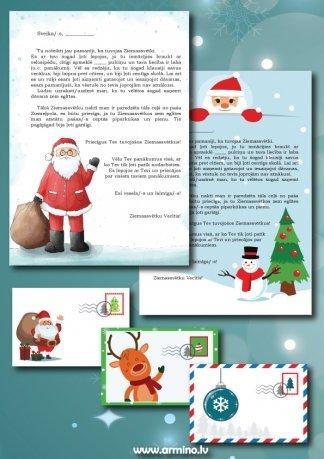Printējama Ziemassvētku vecīša vēstule