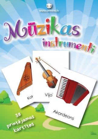 """Printējamas kartītes """"Mūzikas instrumenti"""""""