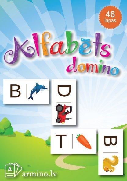 Alfabēta domino Mācību materiāli pirmsskolai rotaļnodarbības kompetenču pieeja