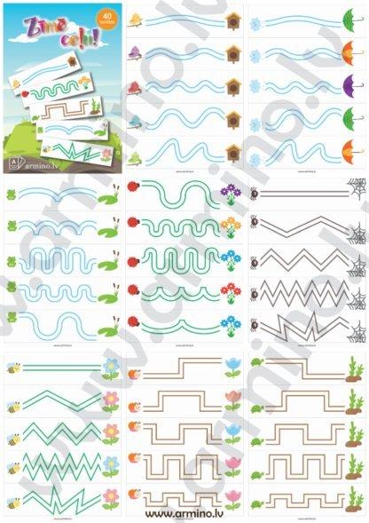 """Printējamas kartes """"Zīmē ceļu"""" pavasaris"""