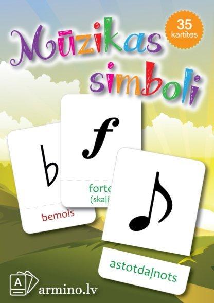 Mūzikas simbolu nosaukumi Nošu paužu bemols, bekars, mažors, minors forte piano