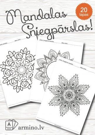 Krāsojamās lapas mandalas - Sniegpārslas